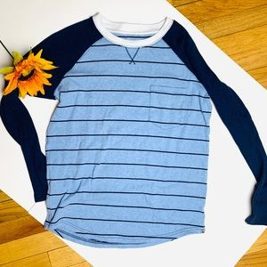 Eddie Bauer Striped Baseball Tee - Long Sleeved